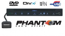 Odtwarzacz DVD slim PHANTOM PDVD 704 | MP3 | RCA | DIVIX | USB | AV-IN | COAXIAL |